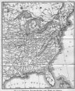 USA: Railroad routes south & west to Ohama, 1893 antique map